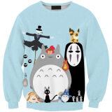 ส่วนลด Young Lady Totoro Fashion Hooded Soft Long Sleeved Sweaters Color As Pic Kisnow ใน จีน