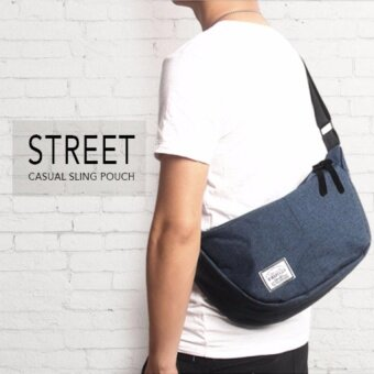 Harga YSLMY Street Casual Outing Messenger Sling Pouch Bag Backpack ForMen & Women (Blue)