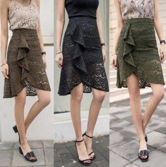 Zashion Classic Draped Skirt Black
