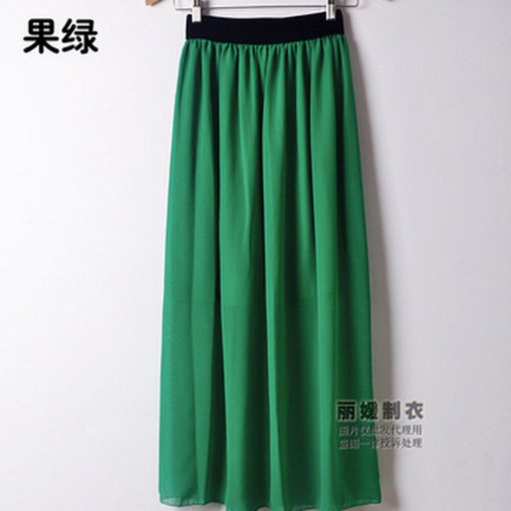 Zashion Classic Long Skirts 2017-Deep Green | Lazada Malaysia