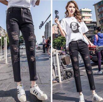 ZASHION Jeans  Denim Pants Collection (Black)