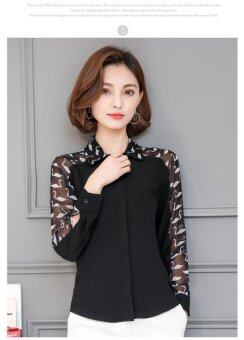 ZASHION Korean-Styled Shirts  Tops Collections (Black)