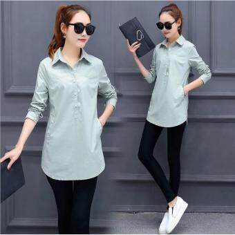 ZASHION Korean-Styled Shirts | Tops Collections (Green)