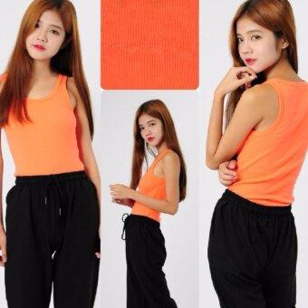Zashion Summer Cotton Vest Female Sports Clothing-Orange