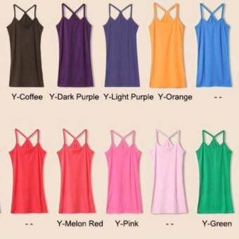 Zashion Summer Cotton Vest Female Sports Clothing-Purple