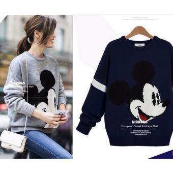 Harga Zashion Winter Sweater Collection 2016-Navy Blue