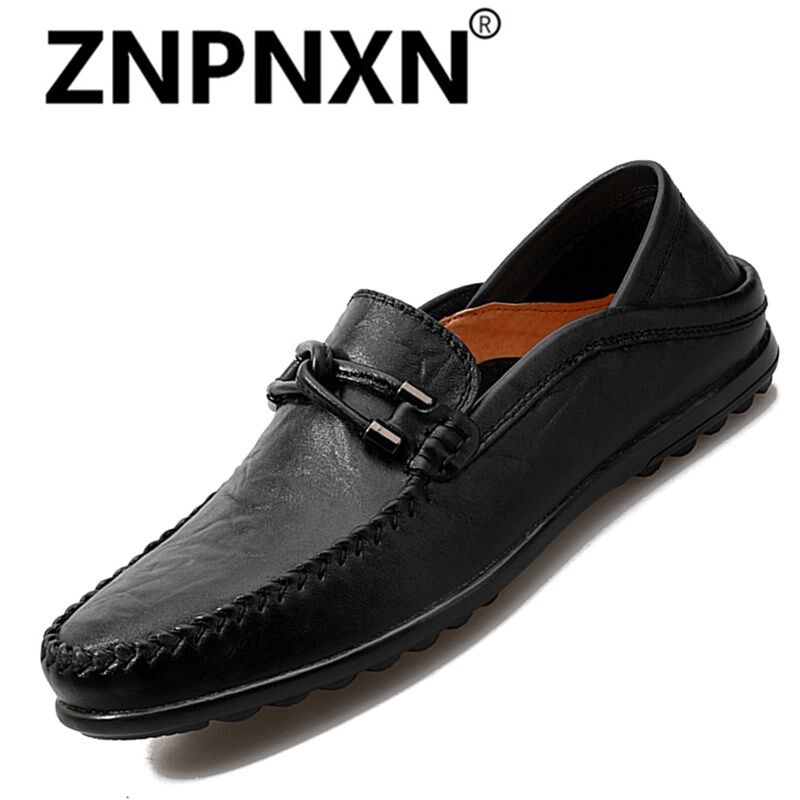 ZNPNXN Fashion Leather Slip On Men Driving Moccasins Loafers Casual Shoes - intl