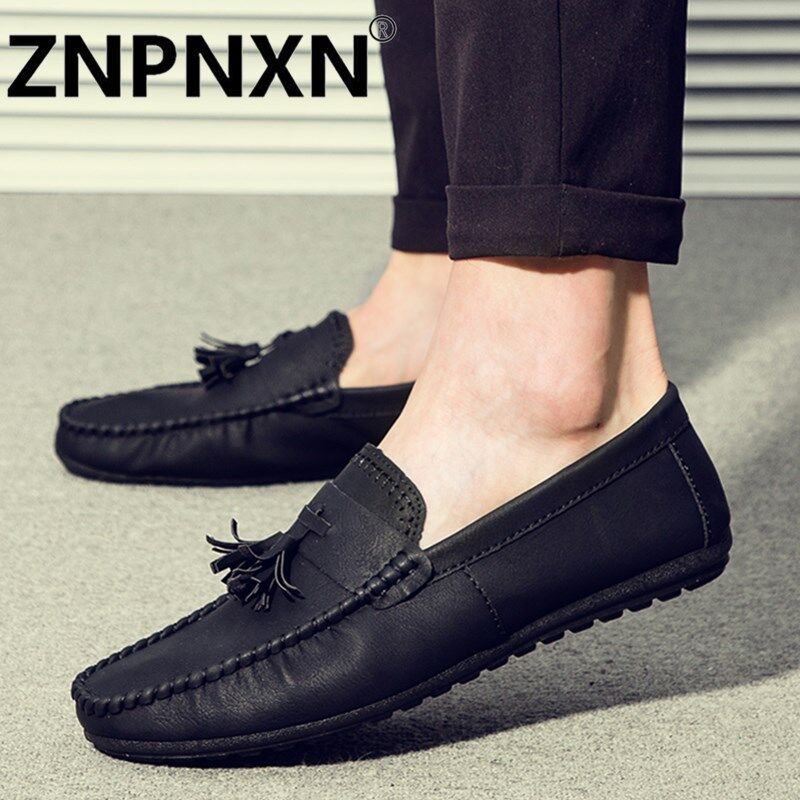 ZNPNXN New Men Casual British Suede Slip On Loafer Shoes Moccasins Driving Shoes - intl ...
