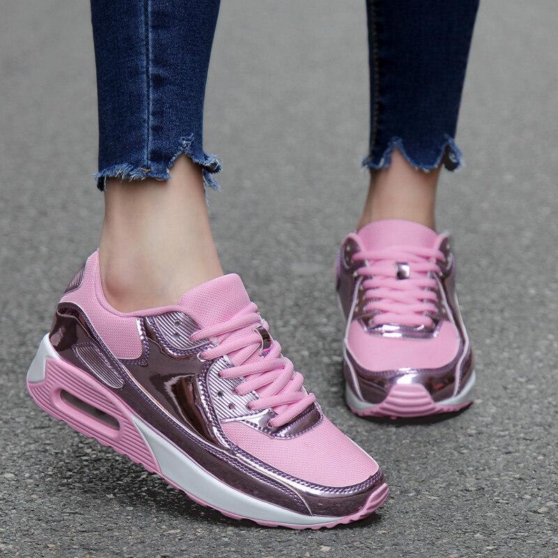 Zuucee Kasual Sepatu Basket Wanita Olahraga Pecinta Sepatu Lari Sepatu  Bantalan Udara ( f6a2226143