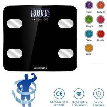 Chux ฐานกล้ามเนื้อ Body Index อิเล็กทรอนิกส์สมาร์ทเครื่องชั่งน้ำหนัก Body FAT BMI ดิจิตอลน้ำหนักของมนุษย์ Mi เครื่องชั่งน้ำหนักชั้น LCD จอแสดงผลก