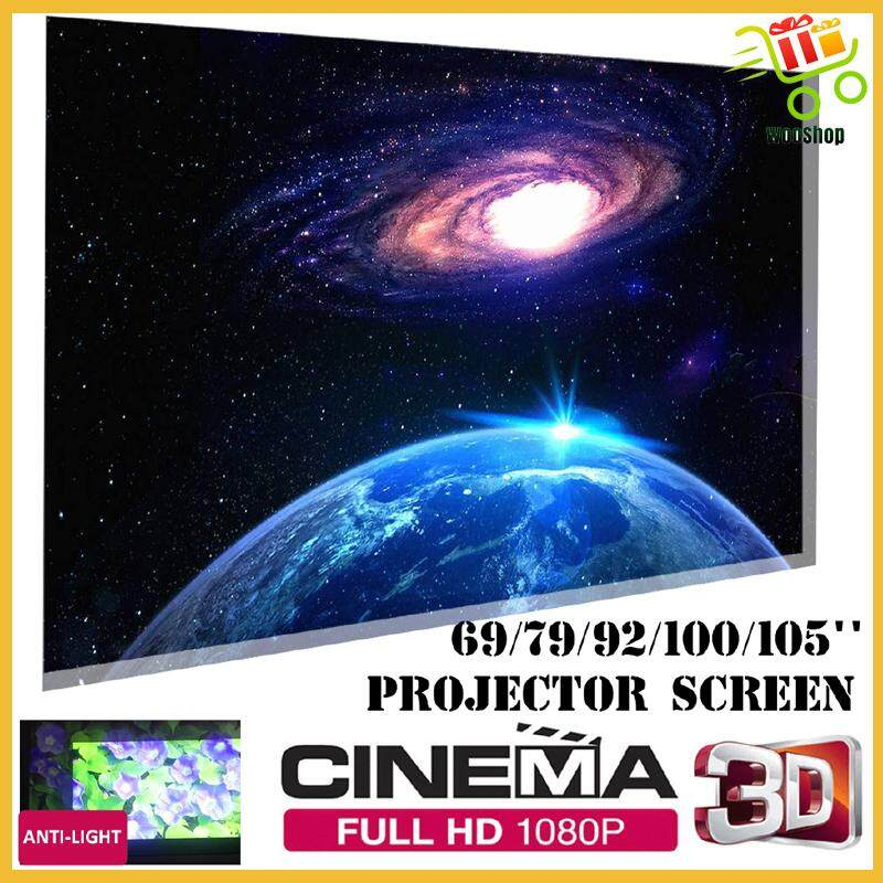 Foldable 4:3 Anti-light Projector Screen Multi-Occasion Theater Meeting Speech - 92 INCH / 105 INCH / 79 INCH / 100 INCH / 69 INCH