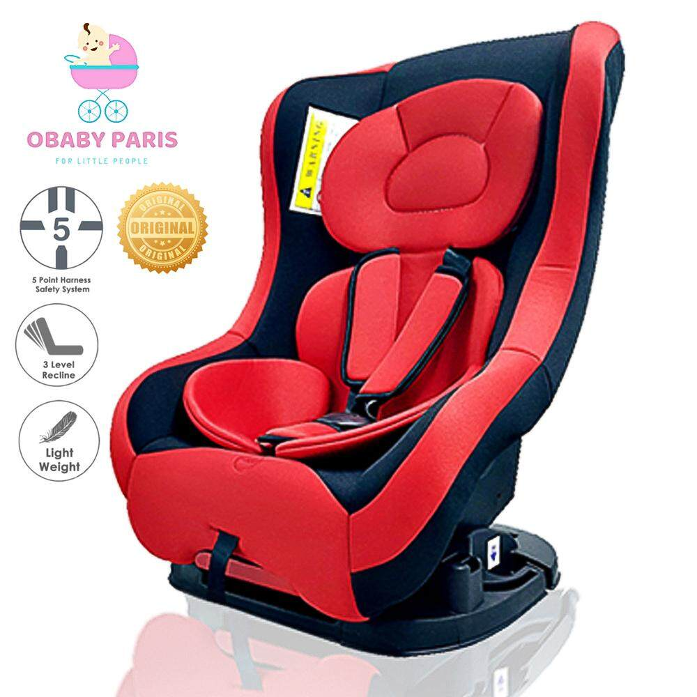 (RAYA 2019) OBABY PARIS OB003 2 Ways Premium Infant Children Safety Car Seat Reclinable Car Seat with Detachable Seat Pad and Cover