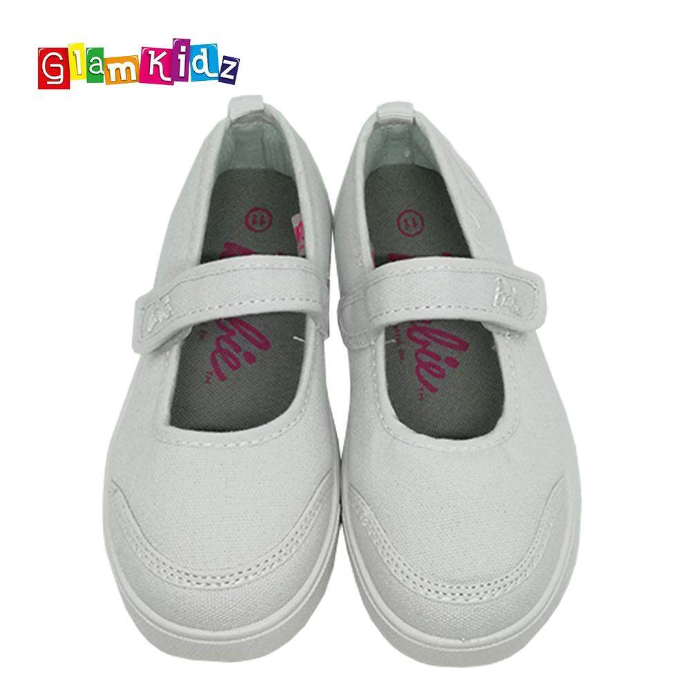 Barbie School Shoes (White) #3-1123