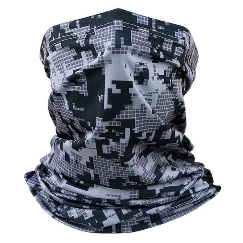 HAHA กลางแจ้งขี่จักรยานกีฬา Camouflage ผ้าพันคอ Shield ป้องกันหัวผ้าคลุมหน้า