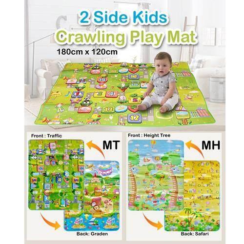 【120cm x 190cm】Double Sides Non-slip Waterproof Kids Crawling Play Mat - Random Design
