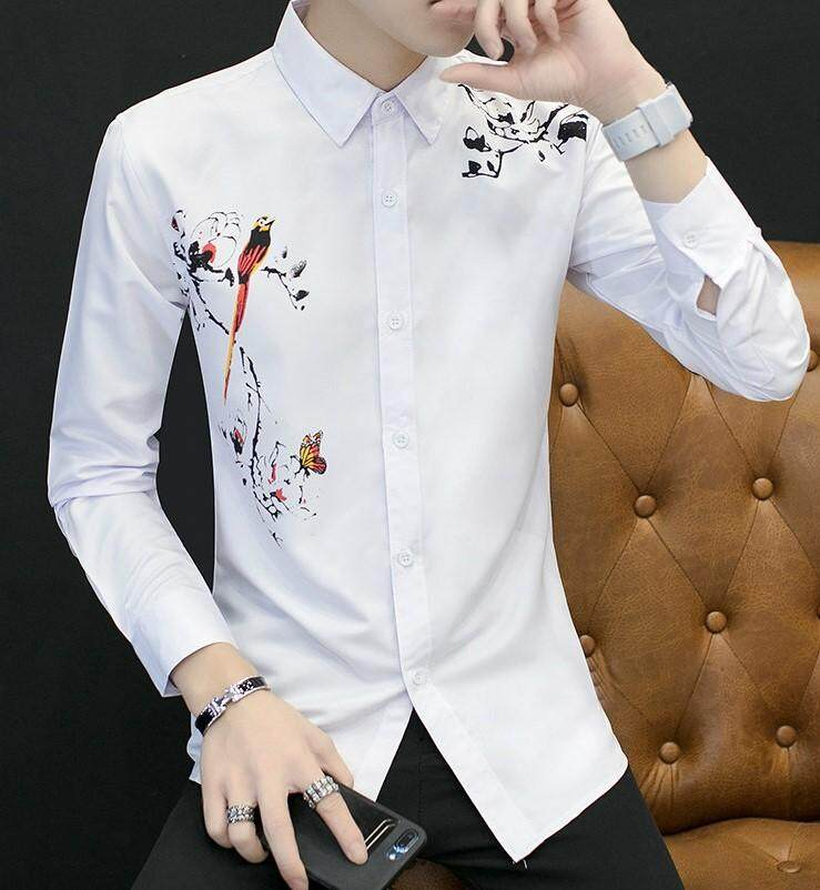 JYS Fashion Korean Style Men Long Sleeve Blouse Collection 390-1705