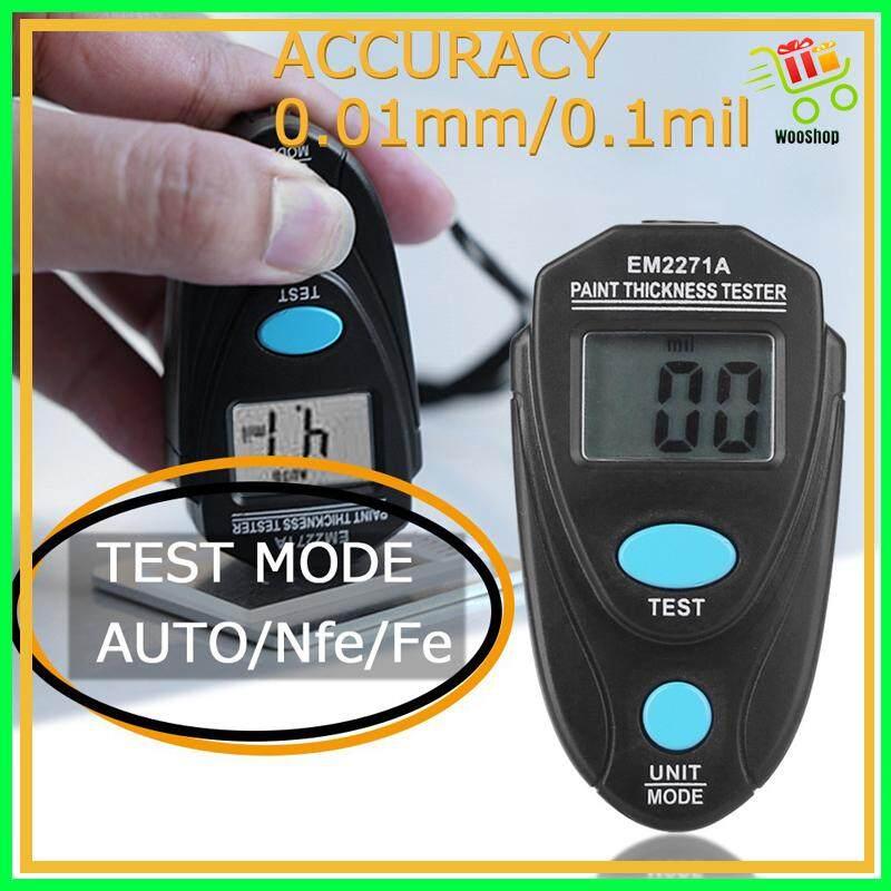 EM2271 EM2271A Digital MINI Thickness Gauge Paint Tester - BLUE / BLACK