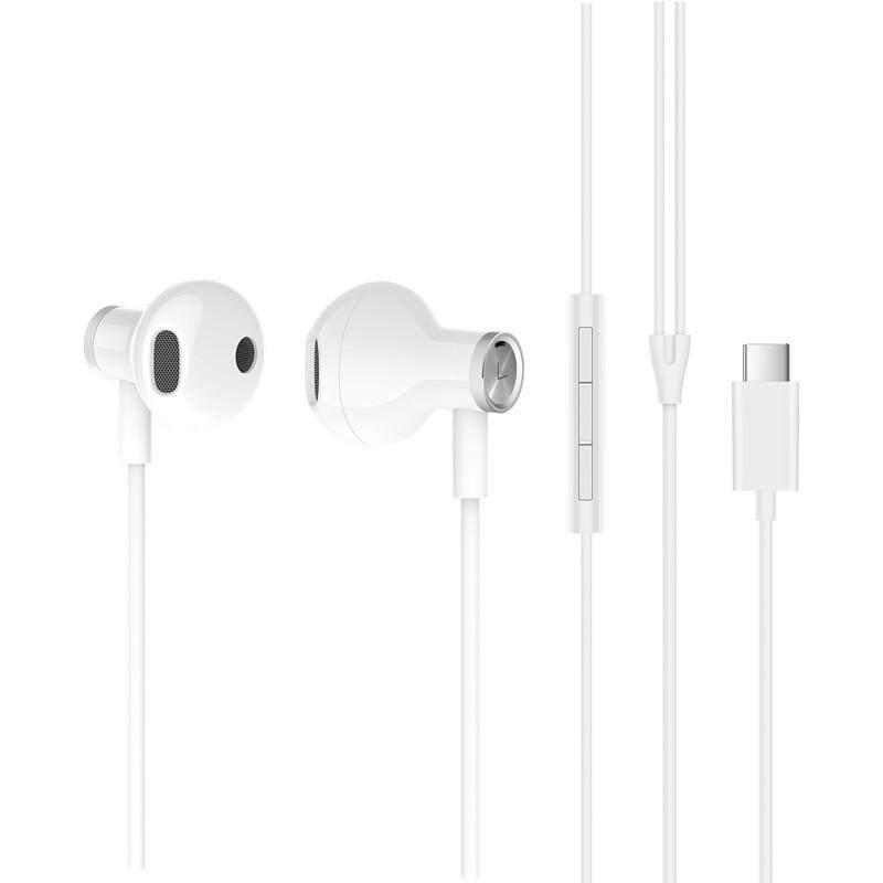 ยี่ห้อไหนดี  แพร่ Xiaomi HYBRID DC หูฟังปลั๊ก Type-C ชนิดใส่ในหู USB สายควบคุมไมโครโฟน Mi ไดรเวอร์คู่หูฟัง