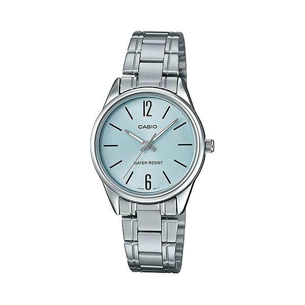 (2 YEARS WARRANTY) CASIO ORIGINAL LTP-V005D-2B DRESS ANALOG-LADIES WATCH