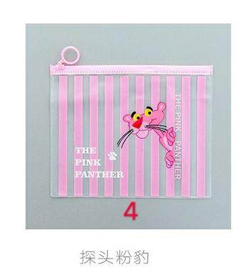 Pink Panther Unicorn Student Case Pencil File Storage Bag