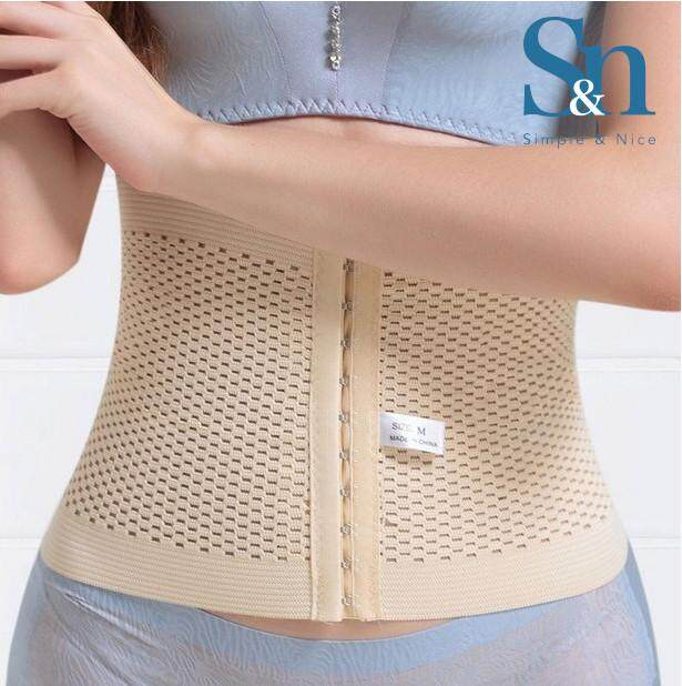 ?SIMPLE & NICE?Maternity Fashion Modern Body Slimming & Waist Belly Belt Shapewear Calories Fat Burner High Quality Comfortable -Black & White / Size: M-2XL (Direct From Factory) Slimming Belt Only