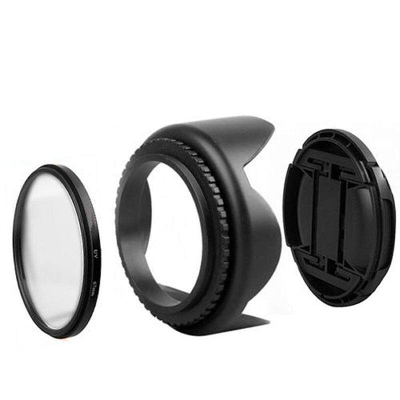 ❥Gracekarin Online 55mm UV filter lens hood kit for D5500 D5300 D5600 D3400  af-p