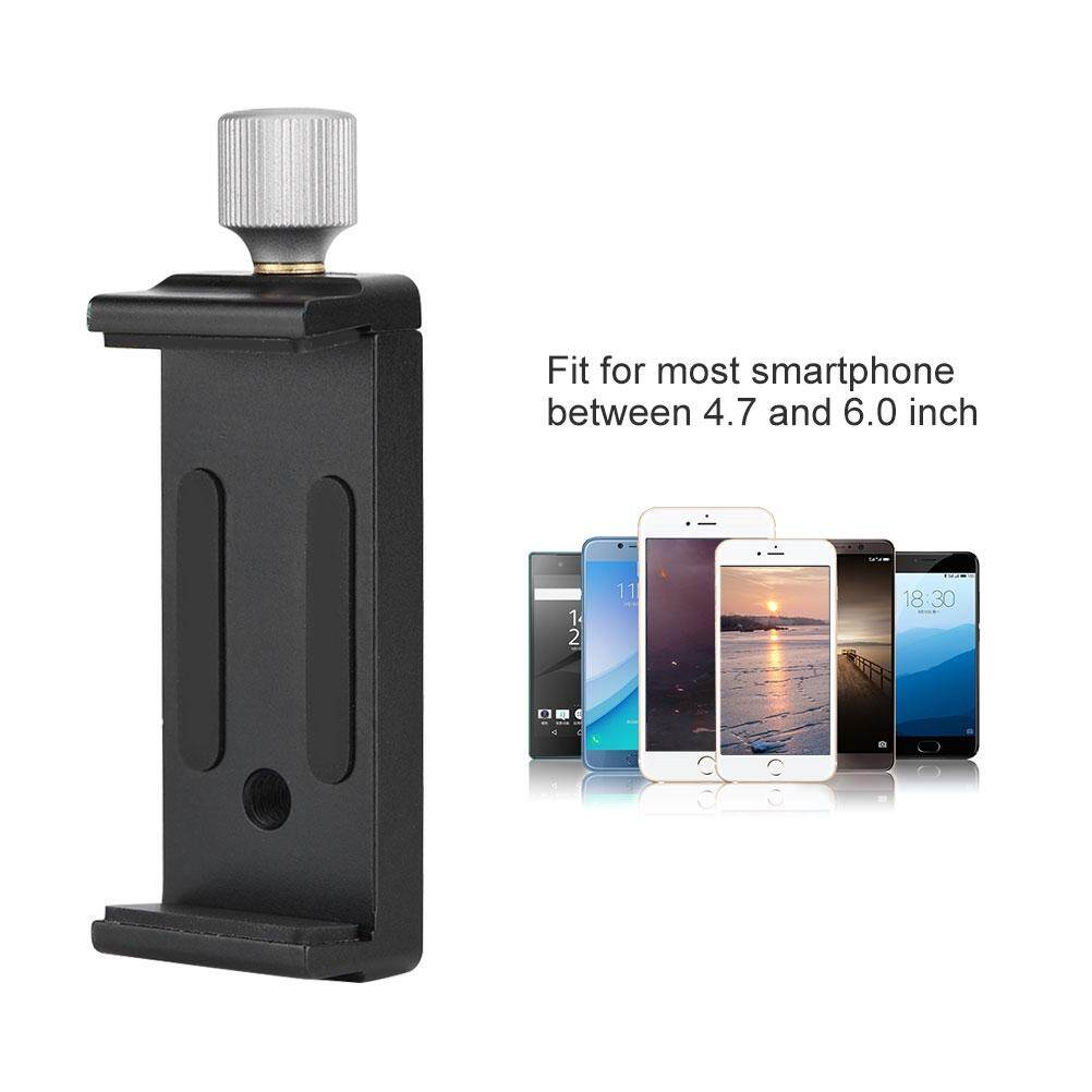 Other Gadgets - Phone Stand Metal Rotatable Phone Clamp Adjustable Width Phone - [BLACK]