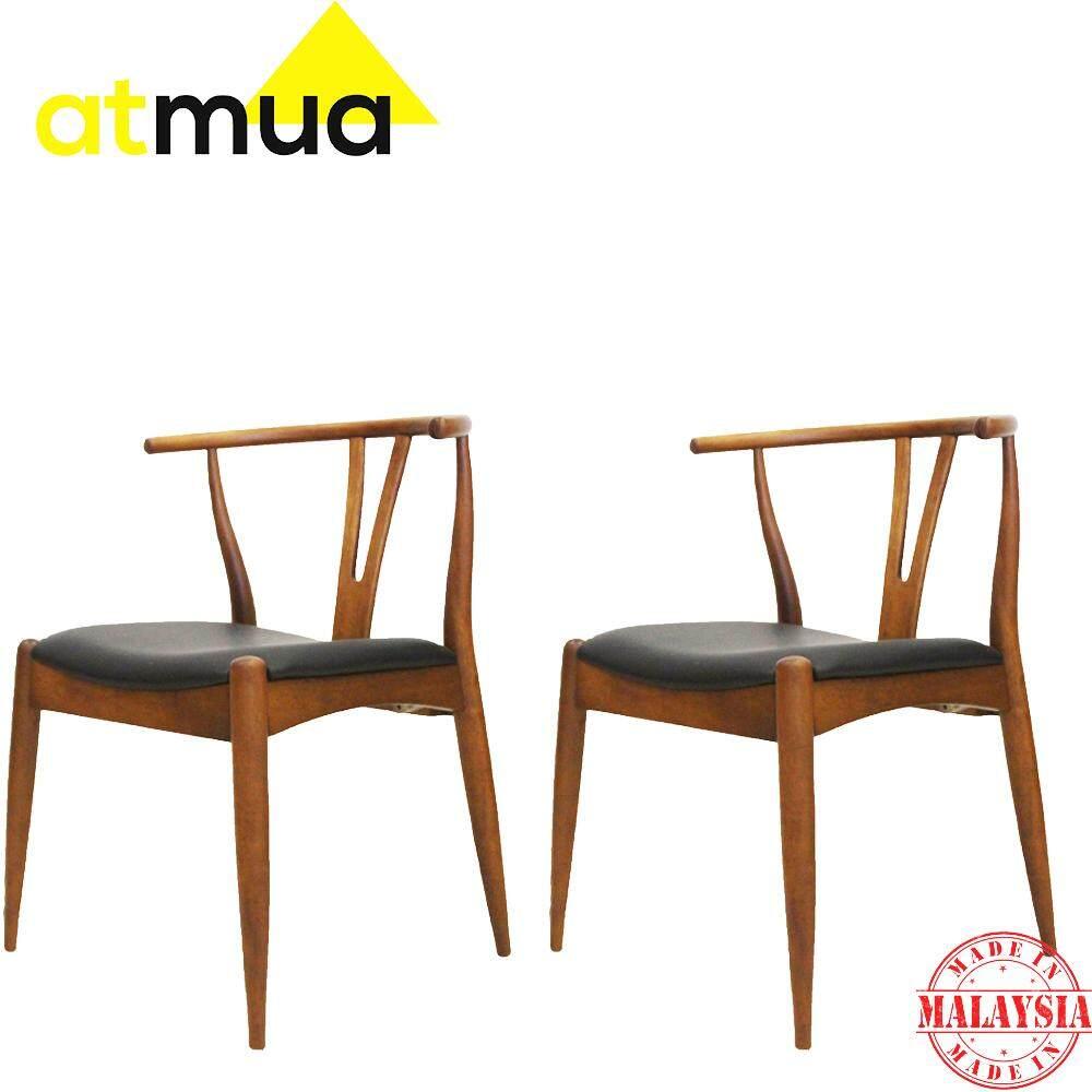 Atmua Coal Dining Chair - Designer Choice (2 Unit) [Full Solid Wood]