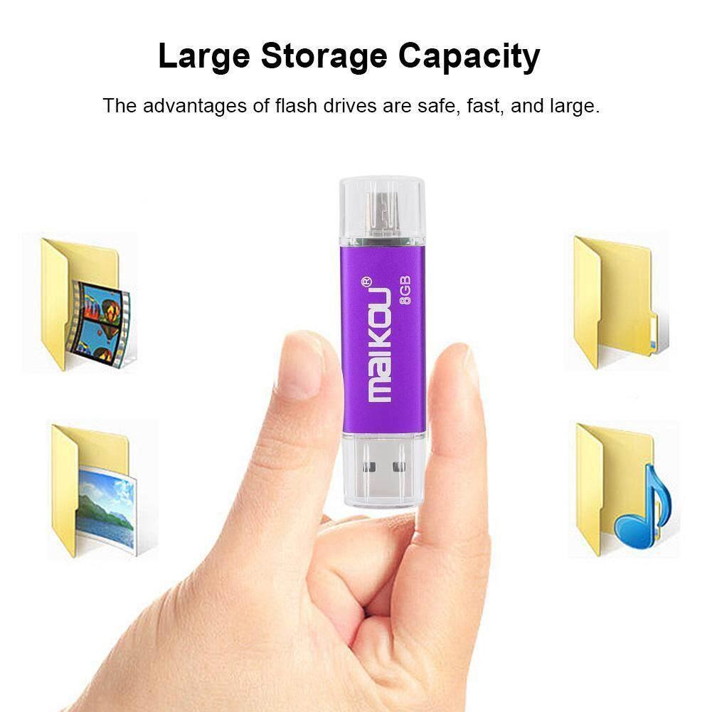 Storage & Hard Drives - Flash Stick 0 USB Disk Dual-use Drive OTG High U Memory 2 Portable Speed Purple - [8G / 16G / 32G / 64G / 128G]