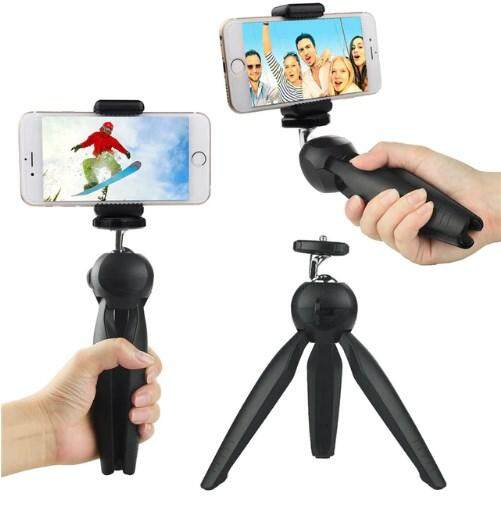 Yunteng YT-228 Mini Tripod with Phone Holder Mount Clip Ball Head Screw for Smartphone Camera