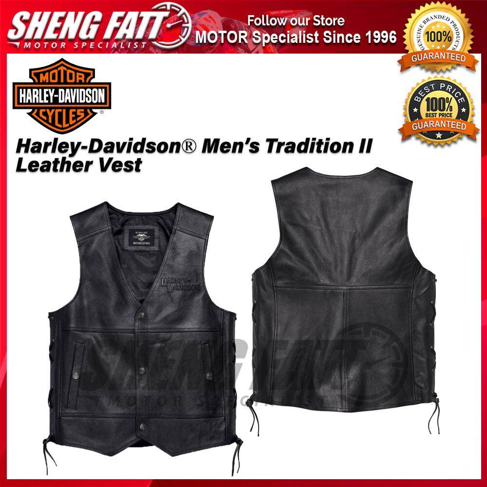 Harley-Davidson® Men's Tradition II Leather Vest 98024-18VM - [ORIGINAL]