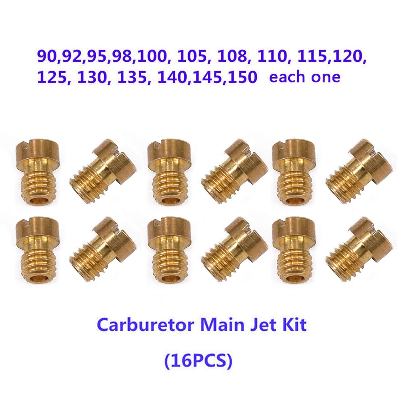 10Pcs Motorcycle Carburetor Main Jet Kit 98 102 105 108 110 112 115 120 125 130