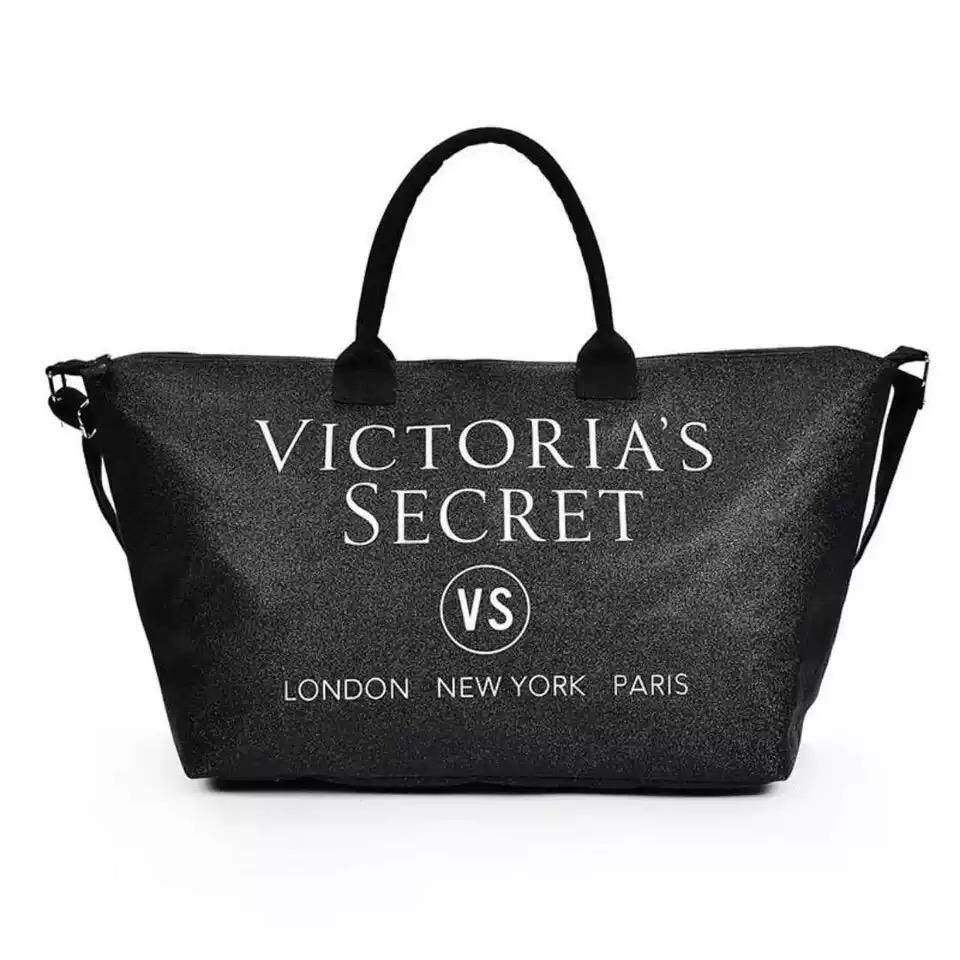 Victoria\'s Secret Classy Shiny Large Tote Shopping Bag With Adjustable Strap
