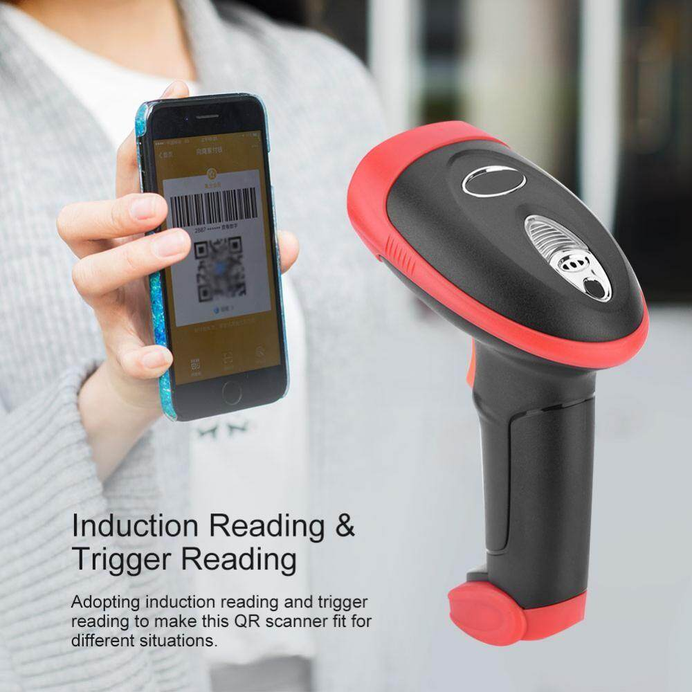 Projectors - 15mil Precise Wireless QR Code Scanner 2.4G 30000 QR Codes Storage Wireless 2D