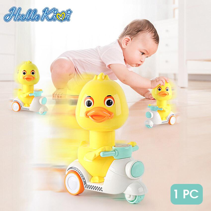 HelloKimi Đồ chơi trẻ em vịt vàng nhỏ đi xe máy chất liệu nhựa ABS cao cấp, thân thiện với môi trường thích hợp làm quà tặng cho trẻ em - INTL