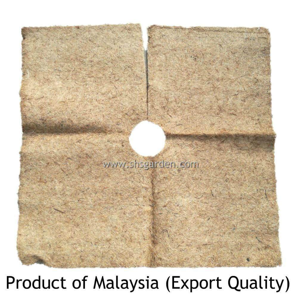Organic Weed Mat for Weed Control and Mulching Palm Fibre Mat 1m x 1m (Export Quality) Biodegradable SHS Kebun