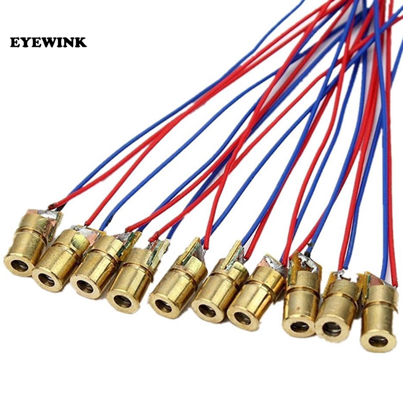 100 Cái/lốc 650nm 6Mm 3V/5V 5MW Laser Diode Dot Đun Copper Red Head