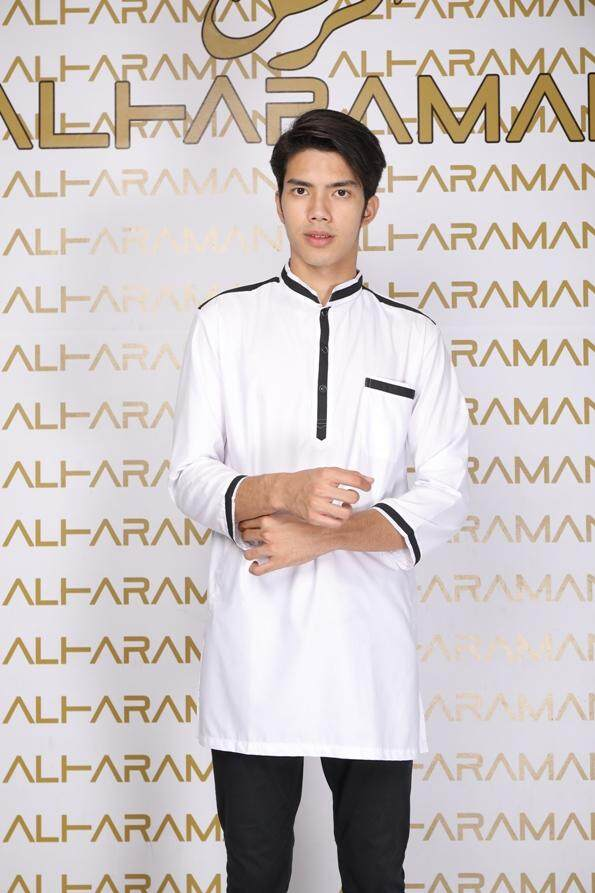 AL HARAMAN KURTA SP BUTTON WHITE PUTIH