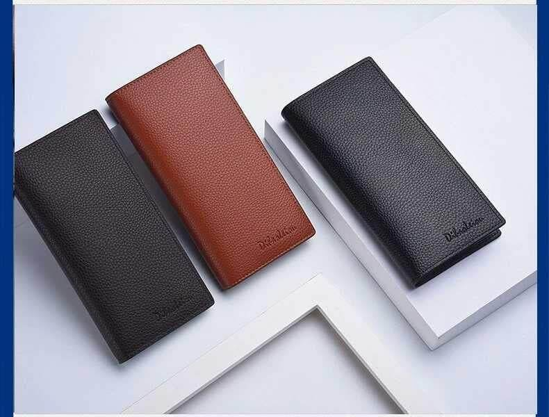 [M\'sia Warehouse Direct] 2019 Korean Series Men\'s Fashion Multifunctional Luxury Long Purse Fengshui Portable Long Wallet With Zip Clutch Card Coin ID Lightweight Flexibility Genuine Leather Hand Carry Bag Perfect Gift For Love One Dompet Panjang Kulit