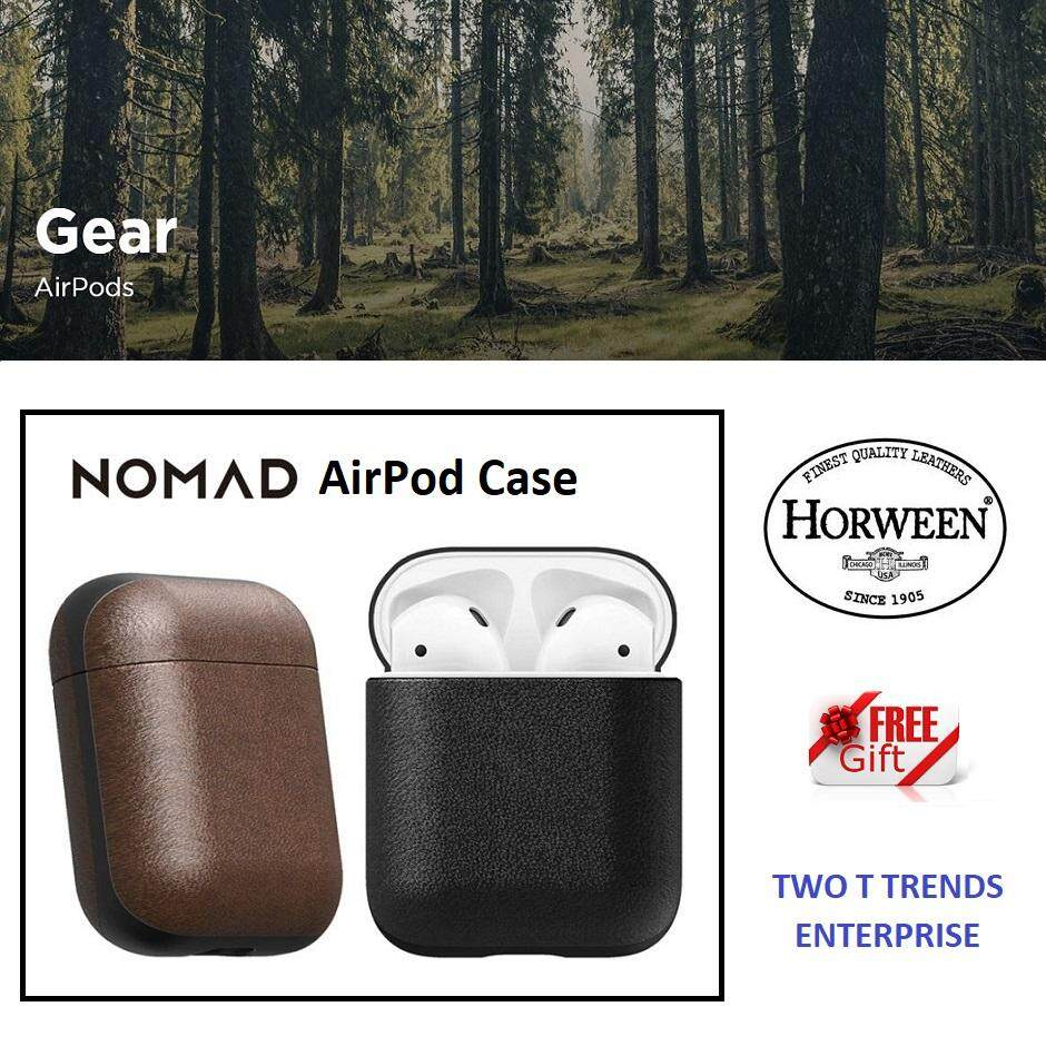 AirPods Nomad Rugged Case Genuine Premium Horween Leather USA ORIGINAL