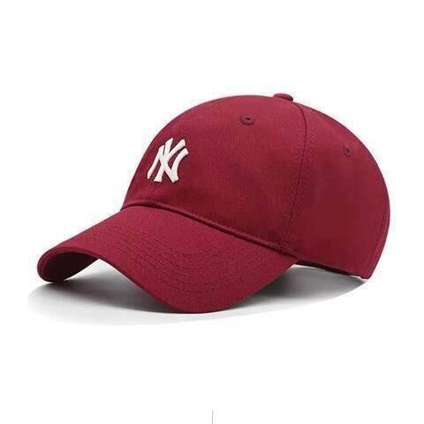 Mũ MLB, La Dodgers Mũ Bóng Chày Nam NY Yankees Tiêu Chuẩn Nhỏ Màu Xanh Dương Mềm Hàng Đầu, Mũ Mùa Hè Vành Cong Cho Nữ Yn