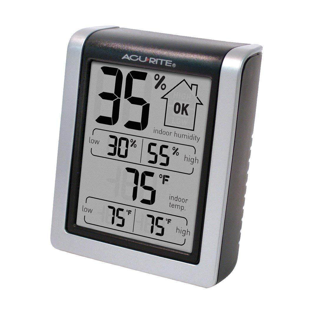 [ iiMONO ] AcuRite 00613 Indoor Thermometer & Hygrometer with Humidity Gauge