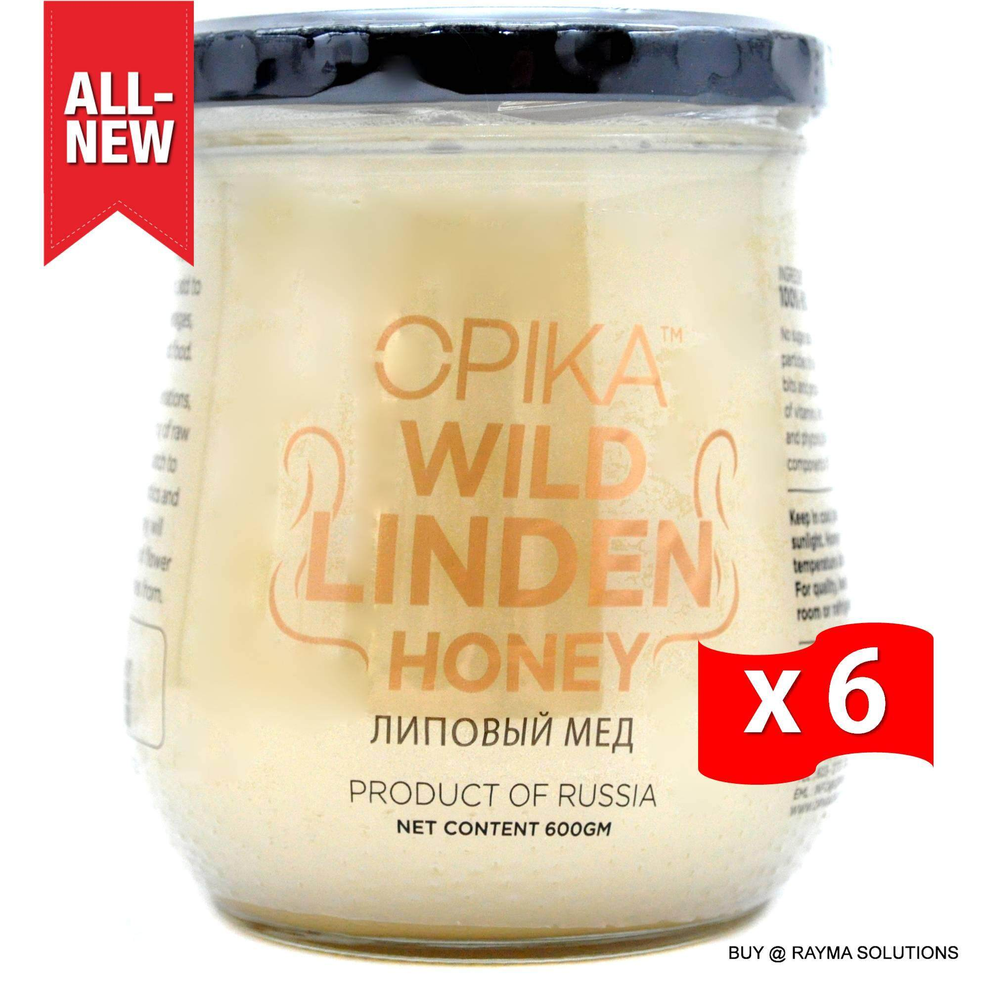 [BEST DEAL] OPIKA Wild Linden Russian Honey, 600g (6 Jars)