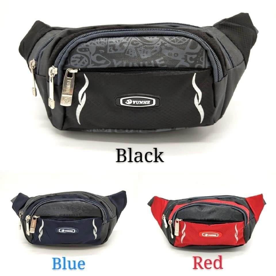 READY STOCKUnisex Outdoor Sport Waist Fanny Pack Pouch Bag Climbing Travel0062-Black