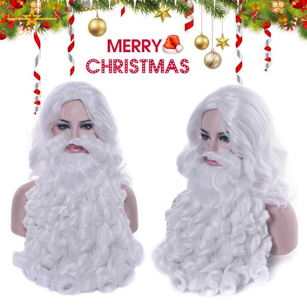 Santa Beard and Wig Adult Santa Claus Christmas Costume Fancy Dress