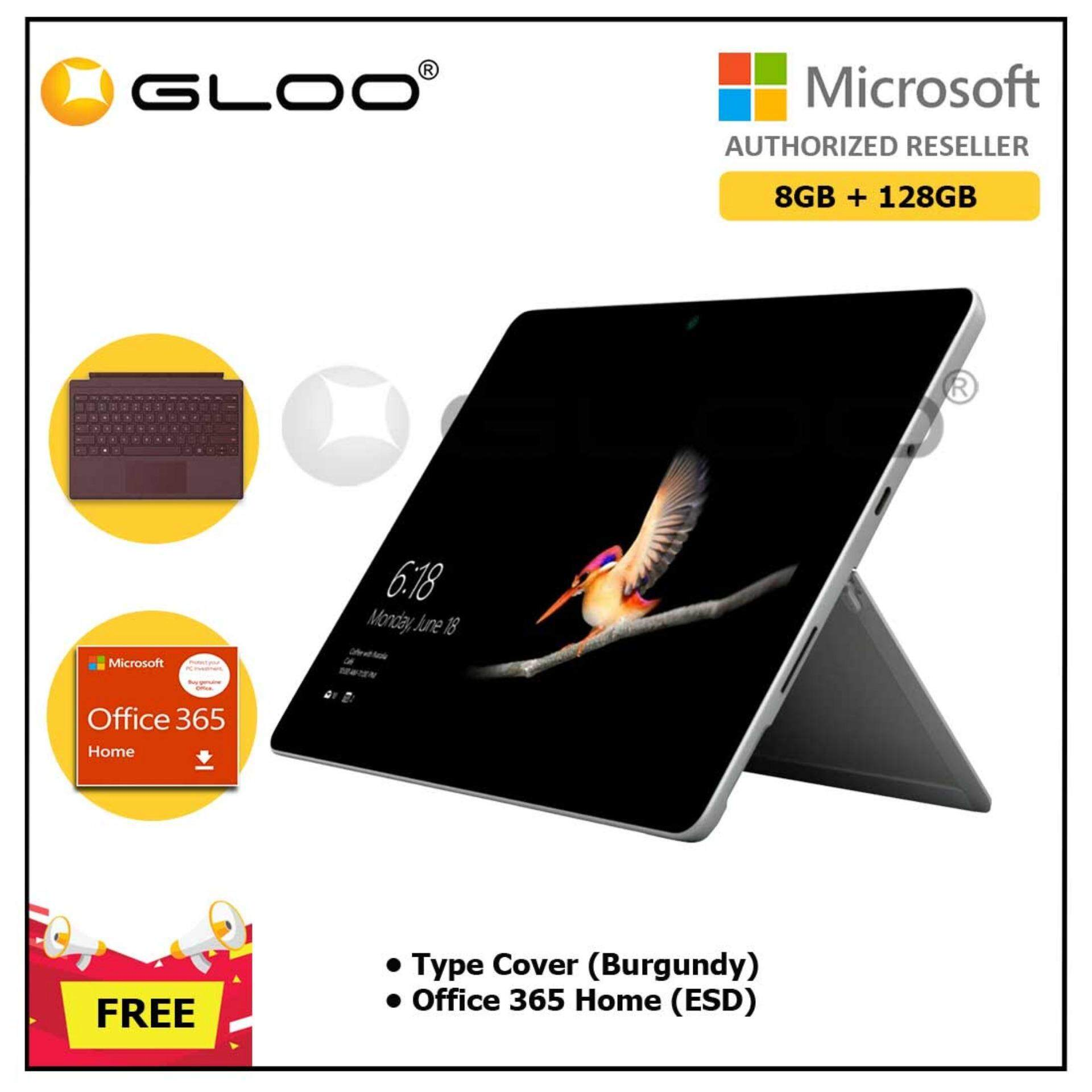 Surface Go Y/8GB 128GB + Surface Go Type Cover Burgundy + Office 365 Home ESD