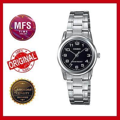 (2 YEARS WARRANTY) Casio Original LTP-V001D-1B Standard Analog-Ladies Watch