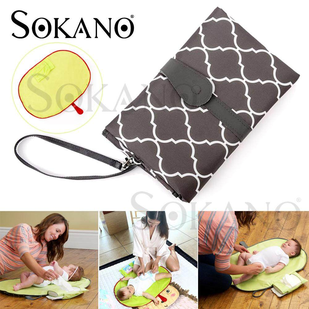 SOKANO Baby Changing Clutch Changing Pad Portable Baby Changing Diaper Nappy Cover Mat Waterproof Sheet (72cm x 48cm)