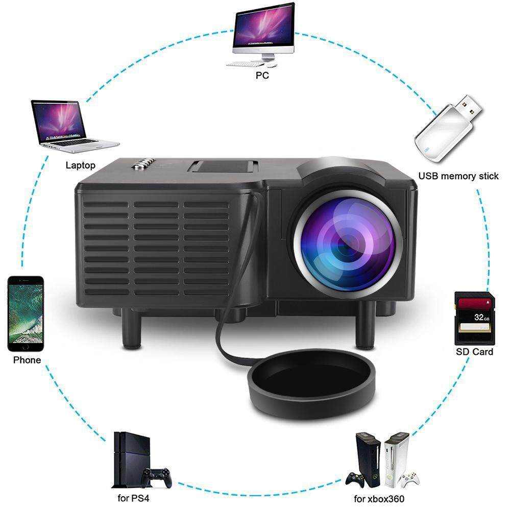 Printers & Projectors - Control Projector Theatre Full HD Home Digital with LED Remote Mini - [EU PLUG / UK PLUG / AU PLUG]
