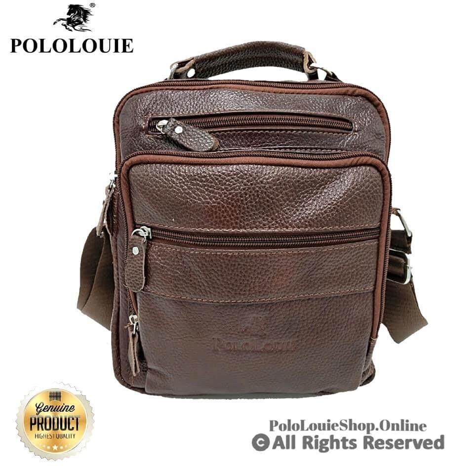Luxury Original Polo Louie Genuine Leather Sling Bag Handcarry Bag Messenger Bag99